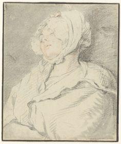 Nicolas Bernard Lépicié | Slapend meisje, Nicolas Bernard Lépicié, 1745 - 1784 |