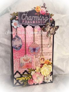 "Tsunami Rose Designs: A 3D Tag created by DT Yvonne using the ""Charming Fragments"" Printable Journal"