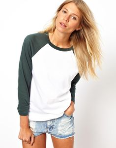 color block baseball top / asos