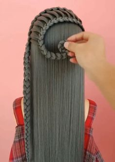 Easy Hairstyles For Long Hair, Braids For Long Hair, Girl Hairstyles, Braided Hairstyles, Front Hair Styles, Curly Hair Styles, Hair Style Vedio, Bridal Hair Buns, Long Hair Video