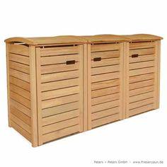 3er Mülltonnenbox CLASSIC in Tischlerqualität - FSC-Holz natur 759€