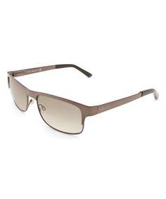 Black Rectangle Browline Sunglasses
