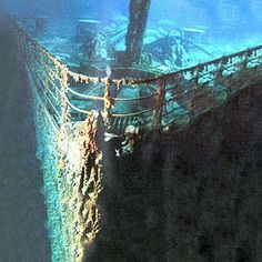 I know that deep water scares the crap out of me, especially the mysteries of the underwater world, but I would love to see the Titanic before I die. Whether that happens or not, it still helps to dream.