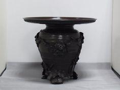 Japanese Bronze Usubata Vase by Suga Gesshin, ¥160,000