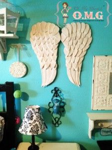 Faux carved angel wings tutorial by Oh My Gluestick #DIY #angel #wings #holiday