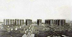 la Ville contemporaine - Le Corbusier  City for 3 Million Inhabitants - 1922