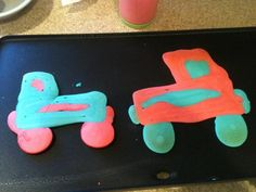 Monster Truck Pancakes for the boys