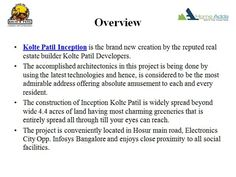 http://www.koltepatilinception.location-price-bangalore.com/  Kolte Patil Inception stands tall with choices of 1 BHK, 2 BHK, 2.5 BHK, 3 BHK and 4 BHK residences designed eminently considering the fact today's home buyer requirements.The project is located at Hosur Road covering an area of more than 4.8 acres.   For More Details Call@8884747474
