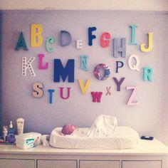 the alphabet wall