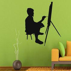 Wall Decals Vinyl Decal Sticker Art Studio Mural Decor Man Artist Painting Kj587
