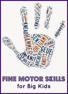Planet Smarty Pants: Fine Motor Skills for Big Kids #sensoryactivities