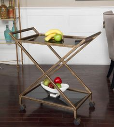 Find this bar cart in our Hudsonhill Foundry Collection Diy Bar Cart, Gold Bar Cart, Bar Cart Decor, Bar Carts, Bar Trolley, Bar Furniture, Accent Furniture, Modern Furniture, Serving Cart