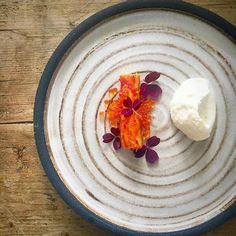 King crab Lemon Trout roe Cauliflower Oxalis by chef richard karlsson