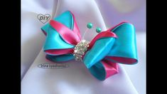 Бант-бабочка из лент МК/ Bow Butterfly DIY/PAP Borboleta de proa#138
