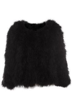 Retro Faux Fur Black Coat(Coming Soon)  $162.99