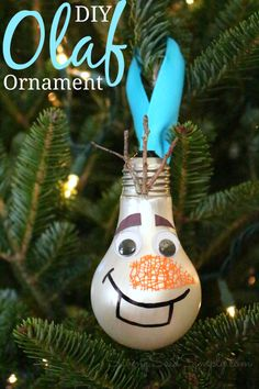 DIY Olaf Ornament Kids Craft | SavingSaidSimply.com