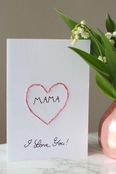 DIY Karte zum Muttertag und Maiglöckchen, Mai, Vase, Kupfervase, coppervase…