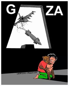 Innocent children in Gaza are killed by Israel .. #GazaUnderAttack