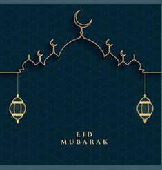 Eid mubarak festival card in golden and black vector Ramadan Background, Festival Background, Ramadan Png, Eid Mubarak Vector, Happy Muharram, Eid Festival, Arabesque Pattern, Vector Free, How To Draw Hands