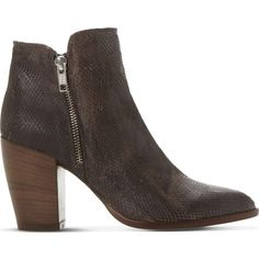 DUNE Pia reptile-embossed leather ankle boots ($195) ❤ liked on Polyvore  featuring