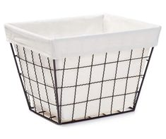 Simple Concepts Large Bronze Wavy Wire Storage Bin with Jute Liner - Big Lots