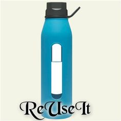 ReUseIt Takeya Glass Water Bottle Glass Water Bottle, Book Reviews, Mom Blogs, Drinks, Drink, Book Reports, Beverage, Drinking