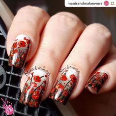 """One more! #incidentaltwin ======> @manisandmakeovers:@thedigitaldozen redoes art! I did poppies and used @pirategirljack 's Incidental Twin """"Beth"""" and """"Tell Em I Ain't Comin' Back"""" Go to link in bio for more info. #nailart #naildesign #nailpolish #nails #manicure #manicures#mani #art #design #polishlove #nail#naillove#nailswag #naillovers #nagellack #naildesigns#nailartdesign#nailartdesigns #thenailartstory #nailpromote #nailporn #nailaddicts #indiesrock #indieswatch #indiepolishaddict…"""