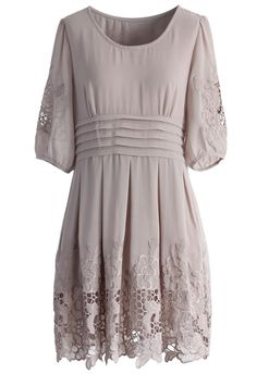 Flowers Embroidered Chiffon Dress - Party - Dress - Retro, Indie and Unique Fashion