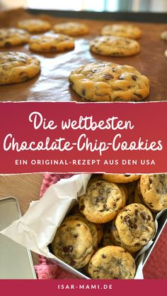 Softbatch Creamcheese Chocolate Chip Cookies - The Best Cookie Recipe From The USA! - Anyone who has eaten these incredibly delicious chocolate chip cookies will never want to try other - Best Biscuit Recipe, Best Cookie Recipes, Easy Cake Recipes, Baking Recipes, Dessert Recipes, Desserts, Pasta Recipes, Sweet Recipes, Salad Recipes