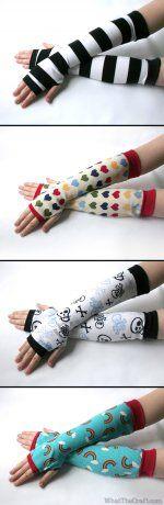 Fingerless Gloves / Armwarmers Printable PDF Pattern
