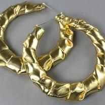 Gold Wrapped Bamboo Earrings.