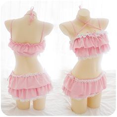 Japanese Cute Pink/Black Summer 2 piece Swimsuit (swim suit) SD02358