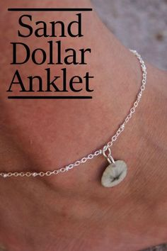Did you get a chance to hit the beach this summer? Or maybe you have sand dollars from a previous summer? Whatever the case, you'll feel like you just left the beach each time you wear this sand dolla