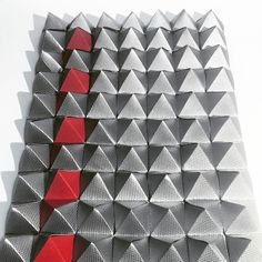#fancy #bookcloth  #scientifickirigami #pyramids #weaving #kirigami #origami #paper #pattern #textile #design #architectural #art #architecture #structure #geometric #surface #maquette #abstract #surfacedesign #geometricart #paperart #paperfolding by hyperqbert