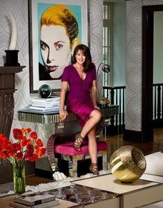 Tamara Mellon's apartment - living room