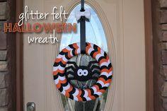 Glitter Felt Halloween Wreath :: Dresden Carrie