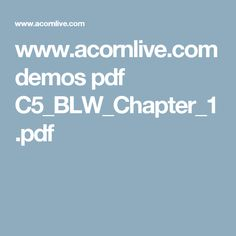 www.acornlive.com demos pdf C5_BLW_Chapter_1.pdf