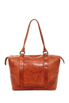Campus Leather Zip Tote
