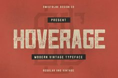 Free font! Add a bit of vintage style to your designs with Hoverage: http://www.creativebloq.com/typography/font-day-hoverage-31514371 #CBfonts