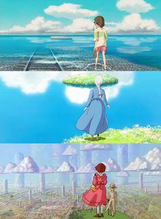 Studio Ghibli, Miyazaki Films, Spirited Away, Howl's Moving Castle, The Cat Returns Manga Anime, Film Anime, Anime Art, Manga Girl, Anime Girls, Hayao Miyazaki, Art Studio Ghibli, Studio Ghibli Movies, Studio Ghibli Quotes