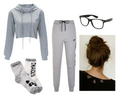 """Gray Day"" by irishdancer514 ❤ liked on Polyvore featuring NIKE and Free Press"