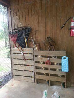 My DIY pallet gardening center. .