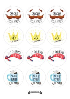 Cupcake toppers Dia del padre - imprimibles gratis - frugalisima - Diy Tutorial and Ideas Fathers Day Crafts, Happy Fathers Day, Diy Father's Day Cards, Fathers Day Cupcakes, Cupcake Toppers Free, Bird Party, Father's Day Diy, Dad Day, Ideas Para Fiestas