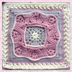 """Puff Wheat 12"""" Afghan Block and Cushion extension by Margaret MacInnis"""