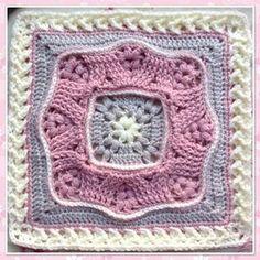 Crochet Mandala Pattern Blanket Granny Squares 17 Ideas For 2019 Crochet Mandala Pattern, Crochet Square Patterns, Crochet Blocks, Afghan Patterns, Crochet Stitches, Knitting Patterns, Block Patterns, Free Knitting, Crochet Borders