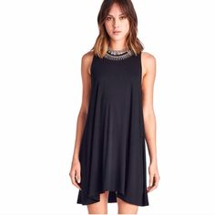 New April Spirit Black Tank Dress