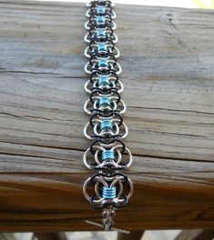 Chainmaille bracelet - Coiled butterfly unique design bracelet (chain mail, chain maille, chainmail) on Etsy, $35.00