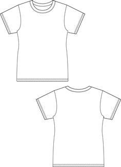 Basic T-Shirt women size. T Shirt Sewing Pattern, Sewing Patterns Free, Free Sewing, Sewing Tutorials, Free Pattern, Knitting Patterns, Sewing Projects, Poncho Crochet, Simple Shirts