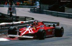 Gilles Villeneuve, Ferrari 126CK - Ferrari Tipo 021 1.5 V6. GP Mónaco 1981. @LegenF1 @FormulaOneWorld #F1