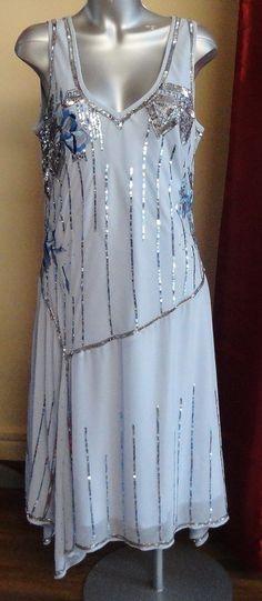 5387eae5542 Details about 1920 s Black Art deco Nouveau Sequin Tassel Great Gatsby Flapper  Dress RR 4016. 1920 Style Dresses1920s Outfits1920s ...